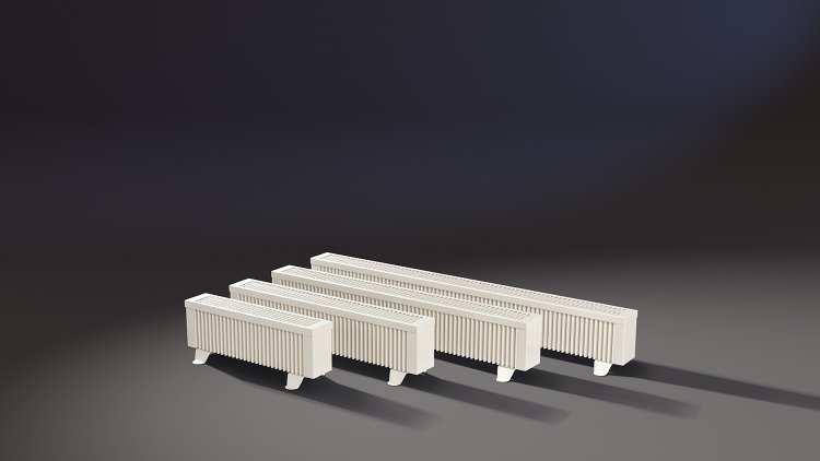 Gruppe der ELKATHERM Elektroflächenspeicherheizungen Serie PLK
