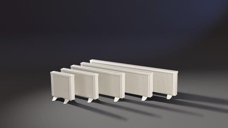 Gruppe der ELKATHERM Elektroflächenspeicherheizungen Serie PLN